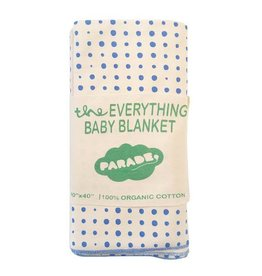 Parade parade organics everything baby wrap - blue dots