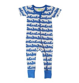 Parade parade organics signature zipper short sleeve romper - blue surf