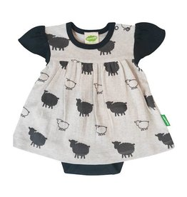 Parade parade organics onesie dress - grey sheep