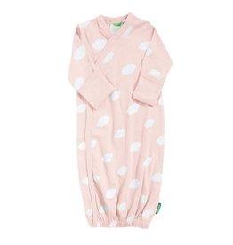 Parade parade organics kimono gown - pink clouds 0-3m