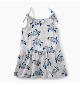 Tea Collection tea collection tie shoulder baby dress - hawaiian sea turtles