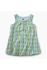 Tea Collection tea collection trapeze baby dress - pop color pineapples