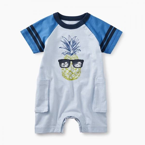 Tea Collection tea collection pineapple cargo romper