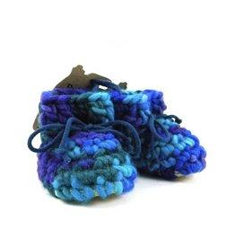 Padraig Cottage padraig cottage newborn & baby slippers - blue multi