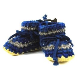 Padraig Cottage padraig cottage youth slippers - denim stripe