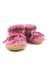 Padraig Cottage padraig cottage children's slippers - pink stripe