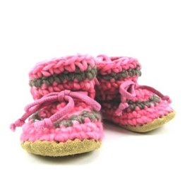 Padraig Cottage padraig cottage youth slippers - pink stripe