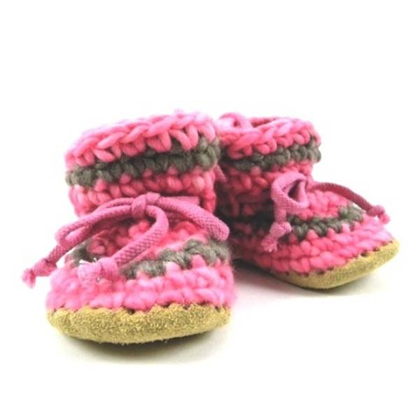 Padraig Cottage padraig cottage youth slippers - pink stripe