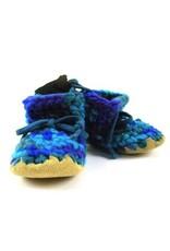 Padraig Cottage padraig cottage youth slippers - blue multi