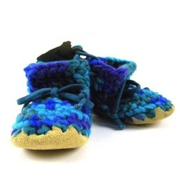 Padraig Cottage padraig cottage youth slippers - blue multi