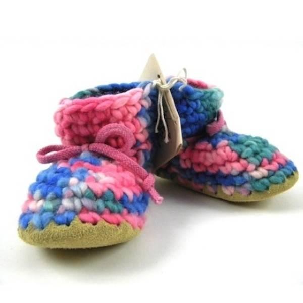 Padraig Cottage padraig cottage youth slippers - pink multi