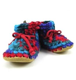 Padraig Cottage padraig cottage children's slippers - red multi