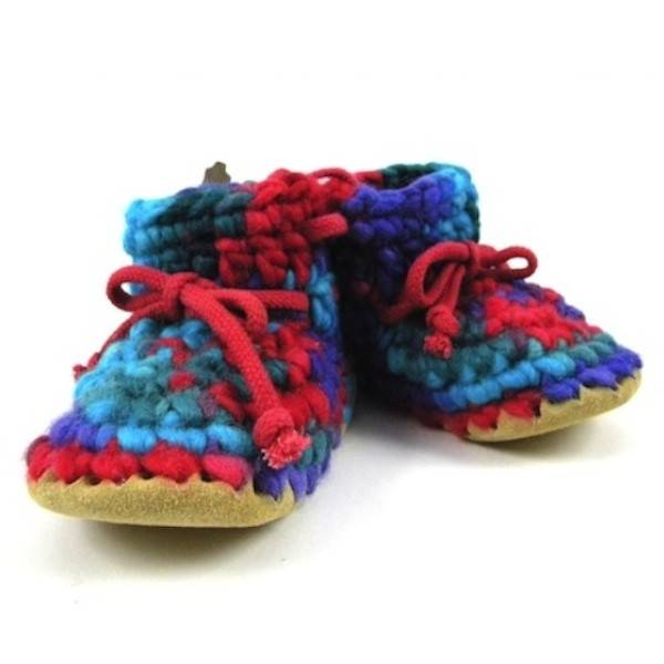 Padraig Cottage padraig cottage youth slippers - red multi