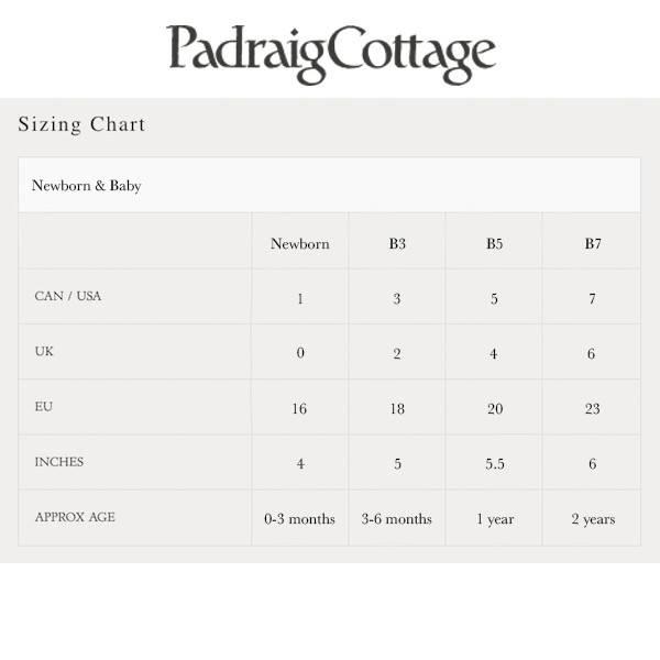Padraig Cottage padraig cottage newborn & baby slippers - forest stripe