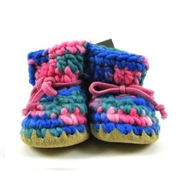 Padraig Cottage padraig cottage newborn & baby slippers - pink multi