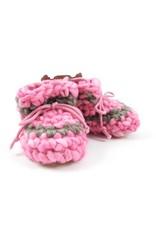 Padraig Cottage padraig cottage newborn & baby slippers - pink stripe