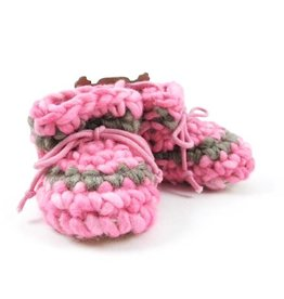 Padraig Cottage padraig cottage newborn & baby slippers - pink stripe