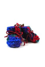 Padraig Cottage padraig cottage newborn & baby slippers - red multi