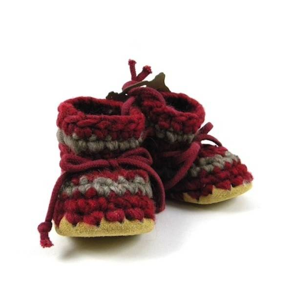 Padraig Cottage padraig cottage newborn & baby slippers - red stripe