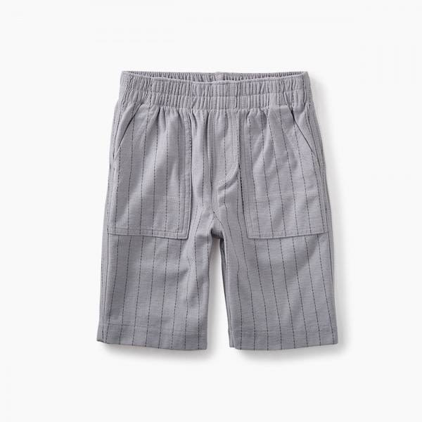 Tea Collection tea collection striped playwear shorts - storm grey