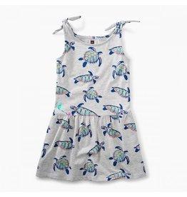 Tea Collection tea collection tie shoulder dress - hawaiian sea turtles