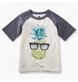 Tea Collection tea collection boys sunshine pineapple raglan graphic tee