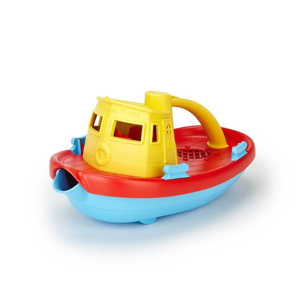 Green Toys green toys tugboat yellow handle