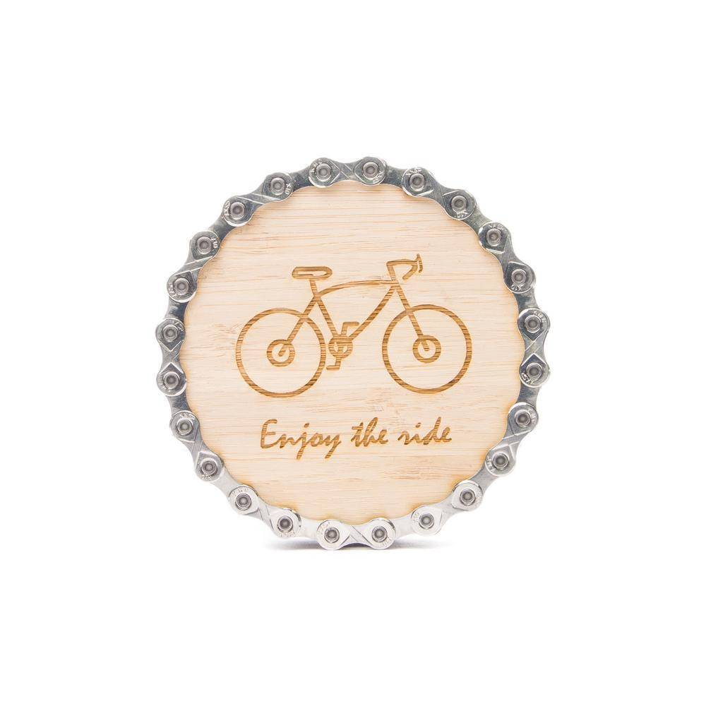 Resource Revival Resource revival, Bamboo Bike chain coasters single