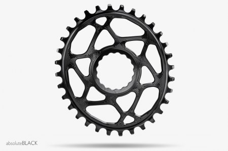 Absolute Black Chainring, Absolute Black Oval N/W RF Cinch Boost