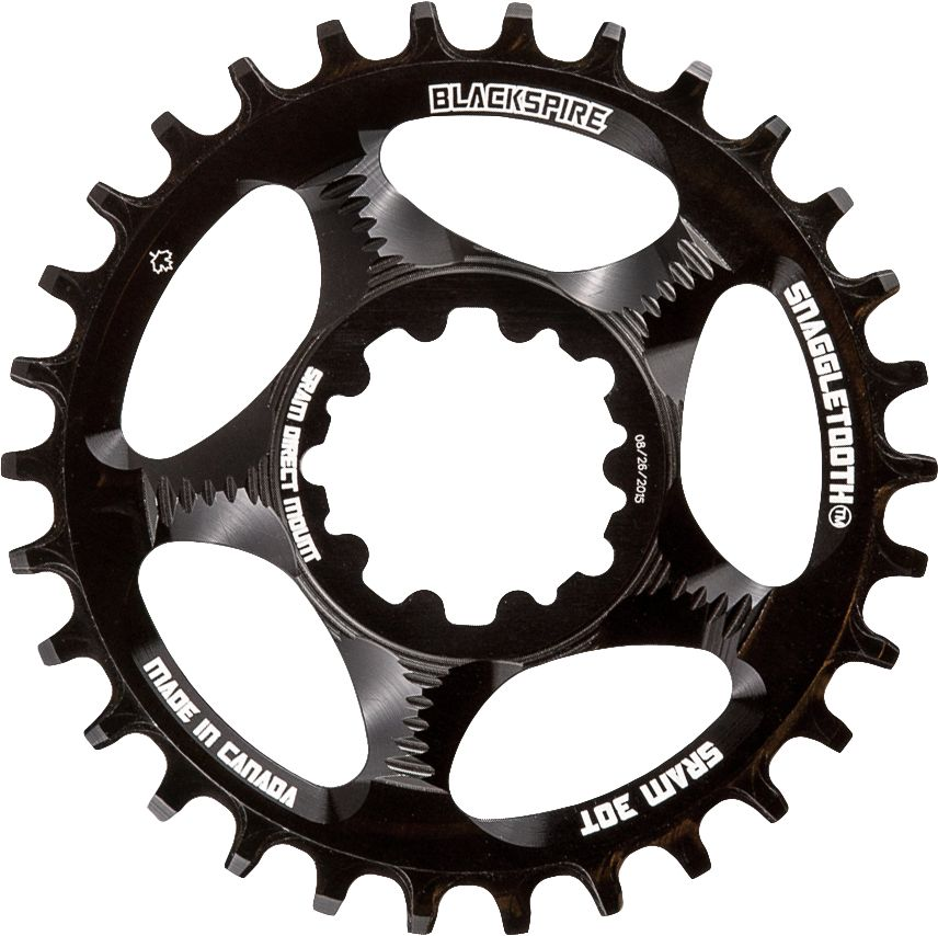 Blackspire Chainring, Blackspire Snaggletooth Sram Direct mount N/W Black
