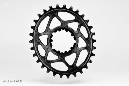 Absolute Black Chainring, Absolute Black Oval N/W SRAM Direct mount