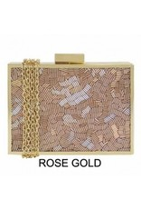 City Design Group Beaded Miniaudiere Clutch