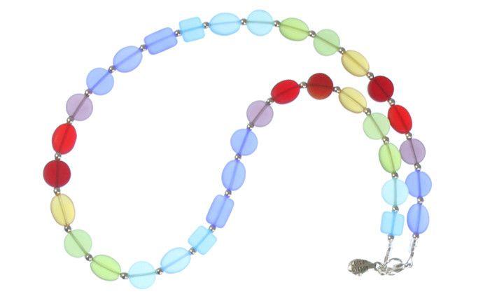"Austin Cake Necklace - Sunstone 18"""