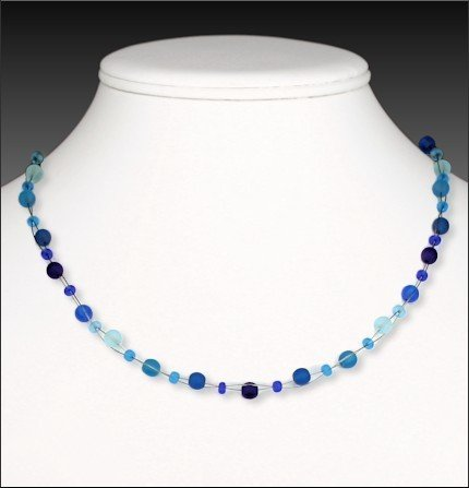 Austin Cake Necklace - Dots Floating Adjustable 16-18""