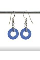 Austin Design Earrings Donut Ocean Blue Matte
