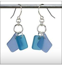 Austin Design Earrings Duo Blue Aqua