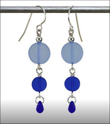 Austin Cake Earrings Sun Stone Cobalt Blue
