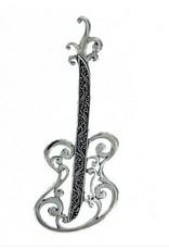 Vera + Wolf Silver Guitar Pendant