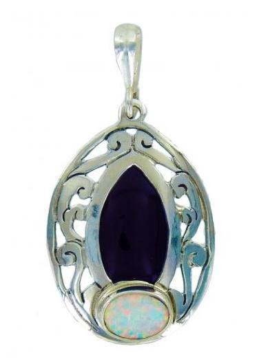 Vera + Wolf Dark Shell and White Opal Pendant