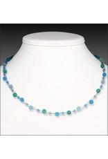 """Austin Design Necklace - Dots Floating Adjustable 16-18"""""""
