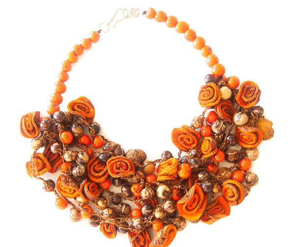 Angela Sanchez Mompox Orange Peel Acai Berry - Necklace