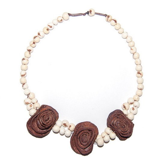 Angela Sanchez Mocoa Acai Berry Orange Peel - Necklace