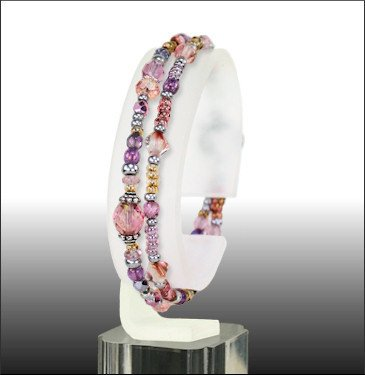 "Austin Cake Double Strand 7.5"" Bracelet"
