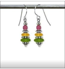 Austin Design Dreidel Matte Glass Earrings