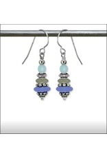 Austin Design Dreidel Matte Glass Earrings