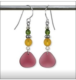 Austin Design Poseideon Matte Glass Earrings