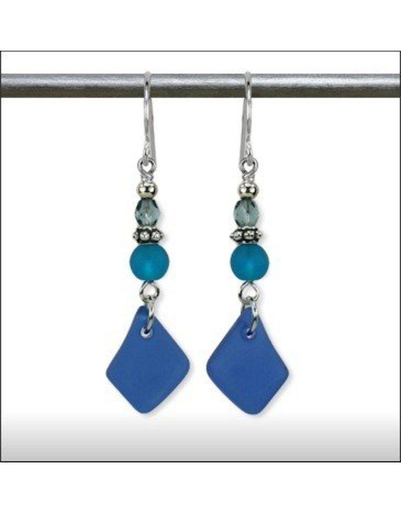 Austin Design Poseideon Matte Glass Earrings