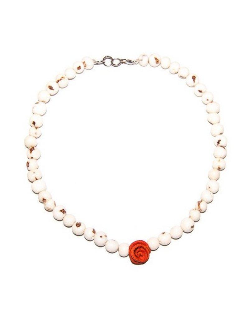 Angela Sanchez Pasto Accai Berry Orange Peel Necklace
