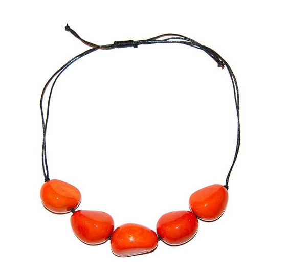 Angela Sanchez Handmade Neiva Natural Tagua Necklace