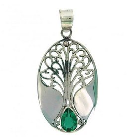 Vera Wolf Sterling Silver Grande Tree of Life Pendant